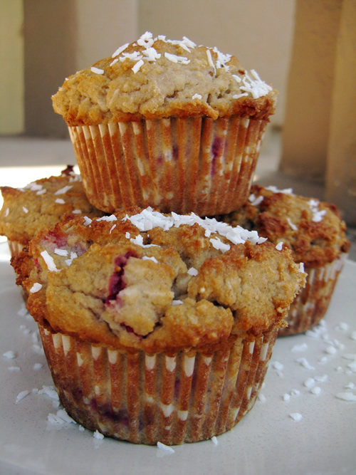 Strawberry Coconut Muffins