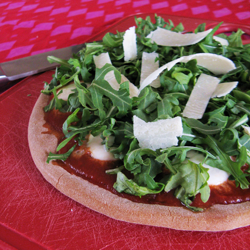 Pizza with Arugula and Truffle Oil