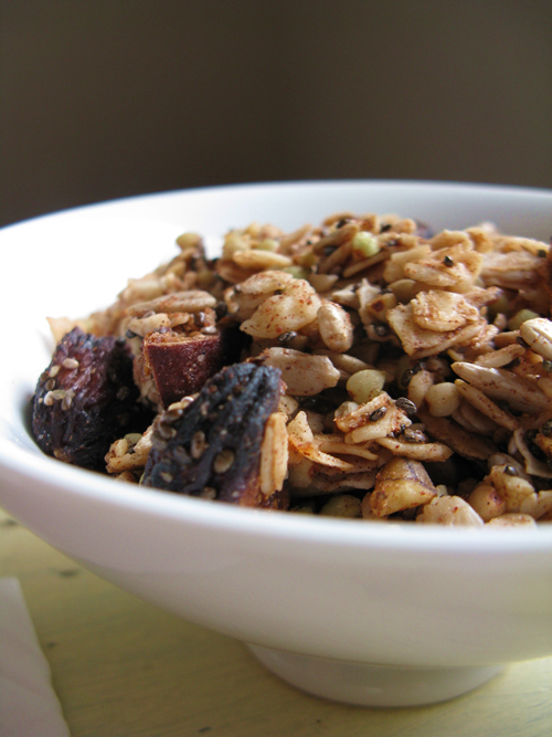 Gluten Free Fig Walnut Granola