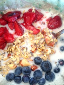 Strawberries and Granola